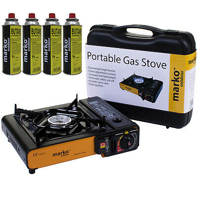 Portable Gas Cooker Stove Single Burner Barbecue BBQ Outdoor Camping Butane Case