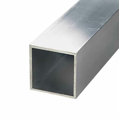 "6063-T52 Aluminum Square Tube, 1-1/4"" x 1-1/4"" x 1/16"" Wall x 72"" long (3 Pack)"