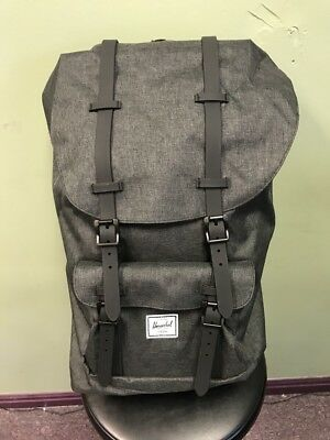 Herschel Supply Co. Little America Backpack Back Pack Black Crosshatch  Black NEW 44fb75c0921