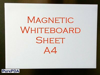 Magnetic Whiteboard Sheet for Fridge, Kitchen, Cars - A4, Magnet Rear, Dry Wipe