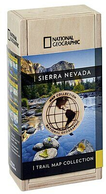 National Geographic Sierra Nevada Trail Maps Collector's Map Wooden Boxed Set