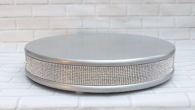 Silver Real Crystal Wedding Cake Stand 15 Inch *