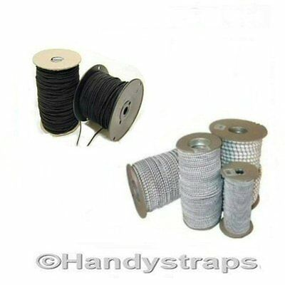 Bungee Shock Cord 100 Meter of 6mm  Black Elastic Handy Straps
