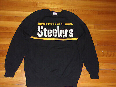 eb72fd450 Nfl Team Pittsburgh Steelers Football Sweater Mens Large Excellent Condition