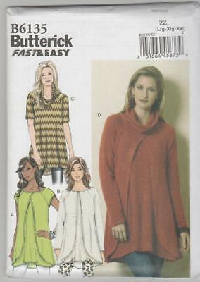Butterick Sewing Pattern B6135 Miss Easy Pullover Tunic Top Sz 16-26