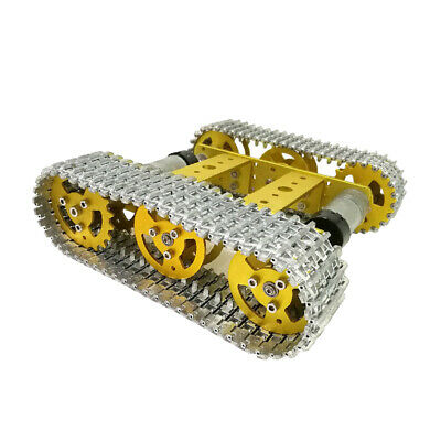 T100 Metal Robot Tank Car Chassis Kit Alloy Tracked Motor For DIY Robotics