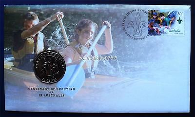 Australia: 2008 CENTENARY OF SCOUTING FIFTY CENT PNC