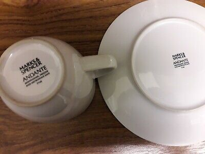 Marks and spencer andante Mugs (approx 63 off) And side Plates (Approx 18 off)