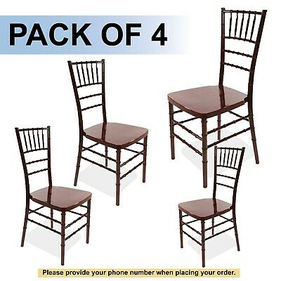 Mahogany Bellaire Chiavari Chair (Price is for 4 chairs)
