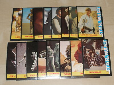 18e94e4013b 1977 STAR Wars Wonder Bread Complete Set Of 16 Trading Cards Ex To ...