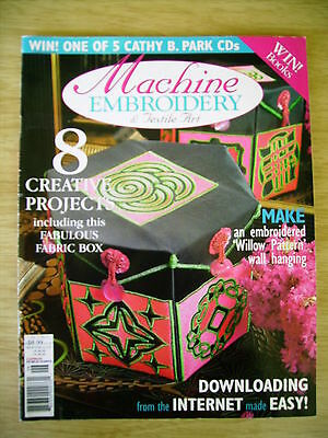 Machine Embroidery & Textile Art Vol 11 #5~Quilt~Boxes~Elephant Quilt~Baby Dress