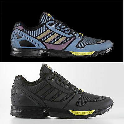 wholesale dealer 75b53 6a9ce ADIDAS ZX FLUX Reflective Xeno Black Shoes Brand New Size 10 With Box  (B54176)