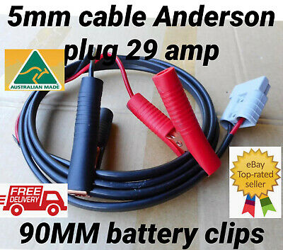 10M Twin auto Cable 5mm 29amp Anderson Plug Connector battery clips 90mm