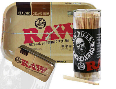 Raw Cones Pre Rolled King Size 50 Count W Raw Small Tray And Cone Artist