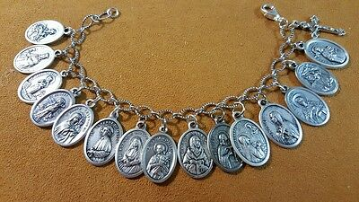 SPECIAL AUCTION   Custom Bracelet of SAINT Medals 7 medals of Our Blessed Lady