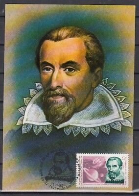 Romania, 05/FEB/91. Johannes Kepler value on a Max. Card. Not First Day