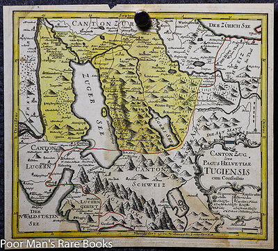 POST INCUNABLE MAP OF SWITZERLAND. COLOR. 1549 Geography