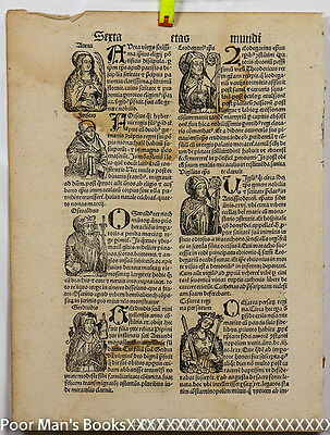 """Incunable Leaf From Hartmann Schedel's """"weltchronik,""""nuremberg Chronicle 1497"""