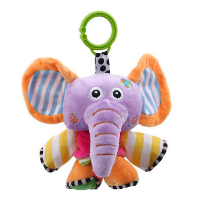 Cute Baby Toys Soft Musical Newborn Kids Toys Animal Baby Mobile Stroller Toy BS
