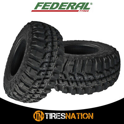 (2) Federal Couragia M/T 35X12.50R17 125Q 10Ply Off Road All Terrain Mud Tires