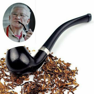 Handheld Wooden Smoking Pipe Tobacco Cigarettes Cigar Pipes Durable For Men Gift