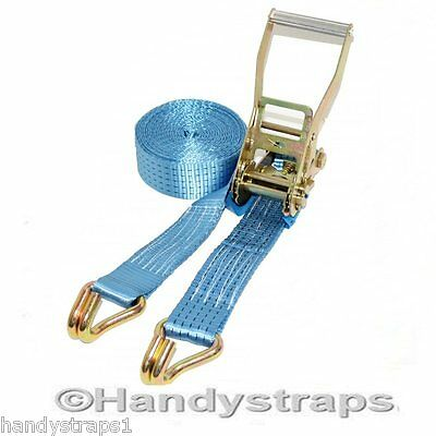Ratchet Straps Tie Down 8 meter x 50mm  5 tons Claw Lorry Lashing Handy Straps