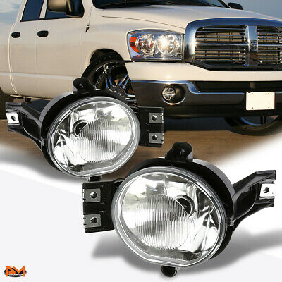 For 02-09 Dodge RAM Pickup OE Style Clear Front Bumper Driving Fog Light/Lamp