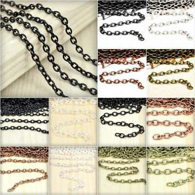 2/4m Open Link Unfinished Cable Chains Bulk Jewellery Necklace Makings Lots EB