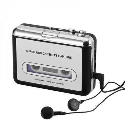 Convertisseur Cassette audio en-MP3 Compatible Win + Mac, Auto Reverse, Logiciel