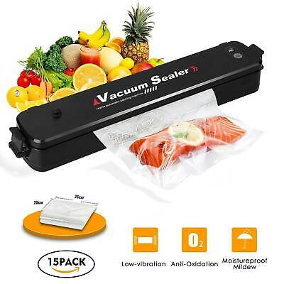 Electric Vacuum Sealer Storage Food Bag Roll Sous Vide Packing Machine 2 Roll 5M