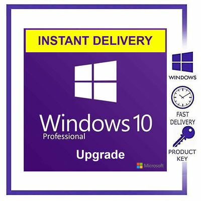 Windows 10 Pro Professional 32/64bit Genuine License Key Product Activation Code