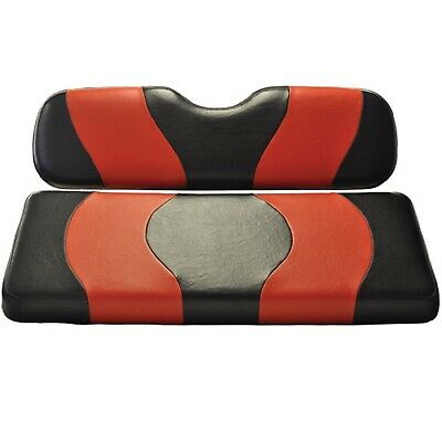 Madjax Wave Black/Red Two-Tone Seat Covers | Club Car Precedent Golf Cart