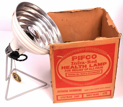 Pifco Infra Red Heat Health Lamp Model H/L Compact VINTAGE Retro Lighting Light