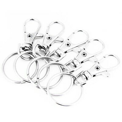 Stainless Lobster Clasps Keychain Swivel Trigger Clips Snap Hook Lanyard Keyring