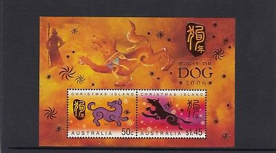 CHRISTMAS IS  2006  Year of the DOG  MINISHEET MNH.