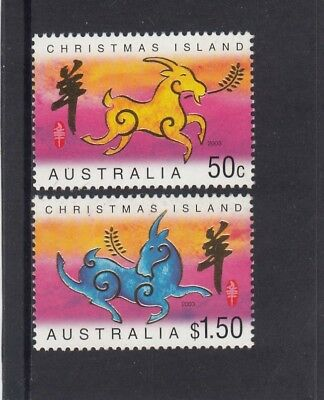 CHRISTMAS IS  2003 Year of the GOAT design set of 2  MNH