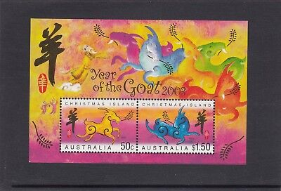 CHRISTMAS IS  2003 Year of the GOAT MINISHEET MNH