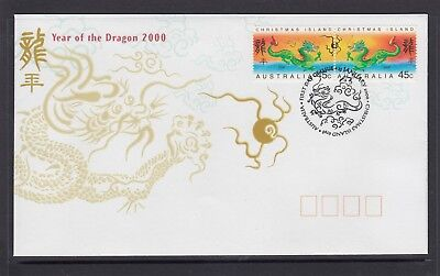 CHRISTMAS IS  2000  Year of the GOLDEN DRAGON  design set joined pair   on FDC