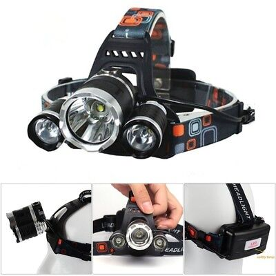 6000lm Rechargeable Torche Xml Lampe Pêche Tête Phare Led T6 3 Cree vNn08mw