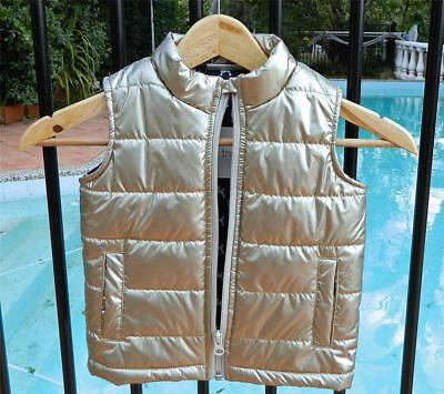 VINTAGE The Kidstore Gold Glam Puffer Hip Vest Size 3 years