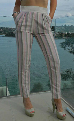 VINTAGE Where It's At September Girl 1980s Original Pure Silk Retro Pants