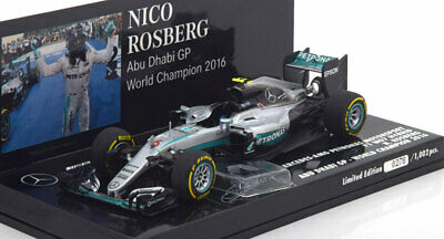 1:43 Minichamps Mercedes AMG F1 W07 Hybrid GP Abu Dhabi World
