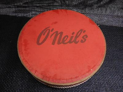 Old Vtg O'NEILS DEPARTMENT STORE HAT BOX Advertising Accessories