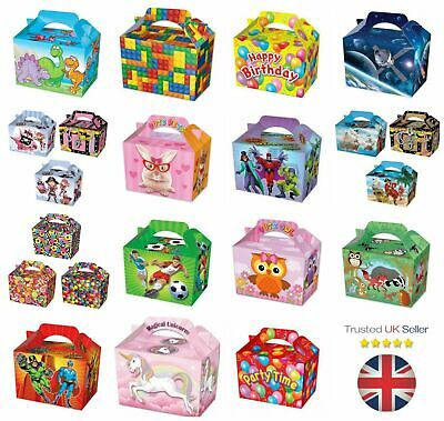 10 Party Food Boxes Loot Lunch Cardboard Gift Children's Kids Happy Birthday UK