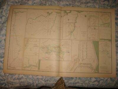 Antique 1891 Official Civil War Map Kansas City Missouri Ohio Military Prison Nr