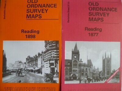 Old Ordnance Survey Detailed Maps Reading Berkshire Two Maps 1877/1898 New