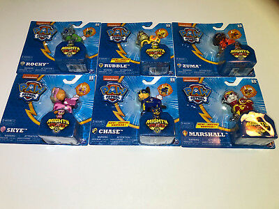 PAW Patrol Mighty Pups Light Up Badge and Paws Chase, Skye, Rubble, Rocky ++