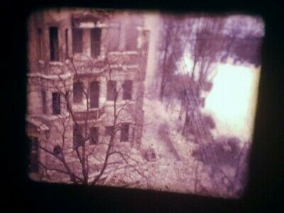 Alter ORIG. 8mm PRIVAT-FILM um 1970 BERLIN TEMPELHOF HAUS-ABRISS, ALLIIERTE PKWs
