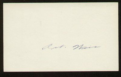 Art Weis signed autograph 3x5 index card E1553