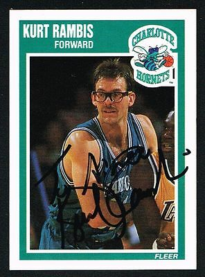 Kurt Rambis #16 signed autograph auto 1989-90 Fleer Basketball Trading Card